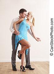 jeune danser couples, ensemble
