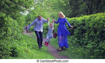 jeune famille, heureux