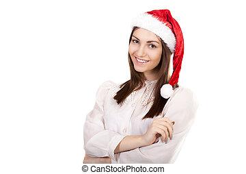 Femme bureau jeune fond habit blanc belle femme chemise