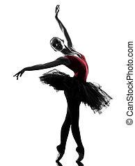jeune femme, ballerine, danseur ballet, danse
