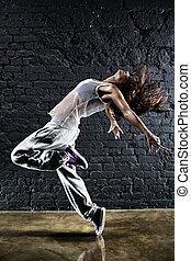jeune femme, danseur