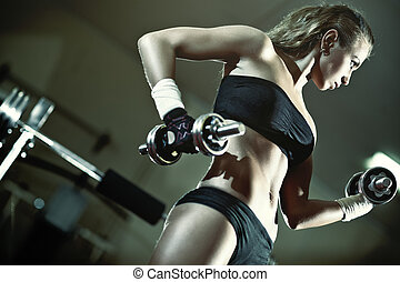 jeune femme, formation poids