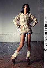 jeune, femme japonaise, mode