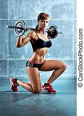 jeune, femme sports