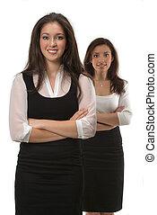 jeune, femmes affaires