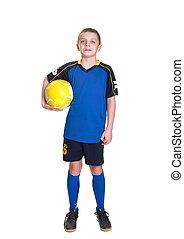 jeune, footballer.