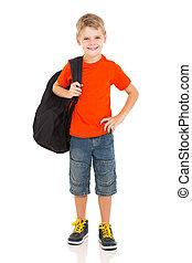 jeune garçon, porter, cartable