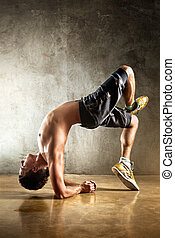 jeune homme, sports, exercices