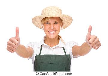 jeune, jardinier