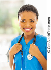jeune, monde médical, américain africain, docteur
