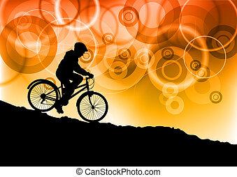 jeune, motard