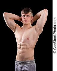 jeune, musculaire, homme