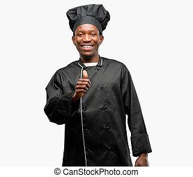 Jeune chef comment cuisinier sourire spectacles pizza for Cuisinier chapeau noir