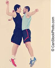 jeunes adultes, exercice, fitness