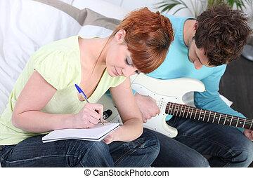 jeunesse, écriture, chanson