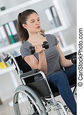 jeunesse, disable, poids