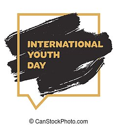 jeunesse, international, bannière, jour