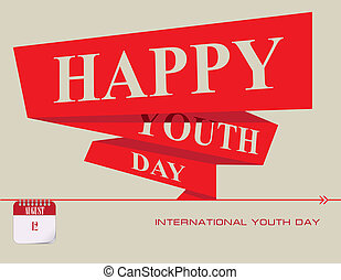 jeunesse, international, poste, jour, carte