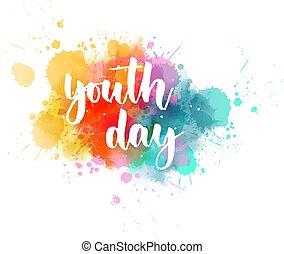 jeunesse, lettrage, jour