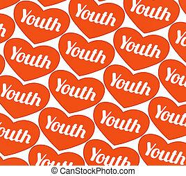 jeunesse, modèle, concept, symbole graphique