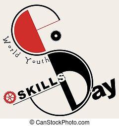 jeunesse, mondiale, jour, techniques