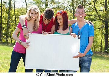 jeunesse, panneau affichage, empy