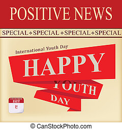 jeunesse, positif, -, jour, nouvelles