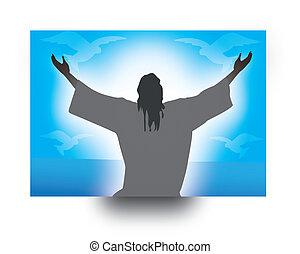 jeus - jesus illustration for pentecost