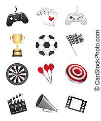 jeux, icônes