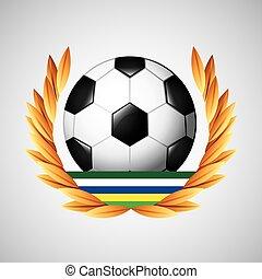jeux, olympique, football, emblème