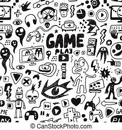 jeux ordinateur, seamless, fond