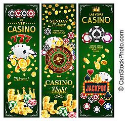 jeux & paris, bannières, casino, ligne, jackpots