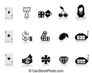 jeux & paris, noir, icône