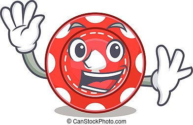jeux & paris, onduler, caractère, chips, amical, conception, dessin animé
