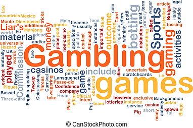 jeux & paris, parier, concept, fond