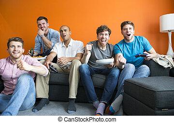 jeux, vidéo, jouer, types
