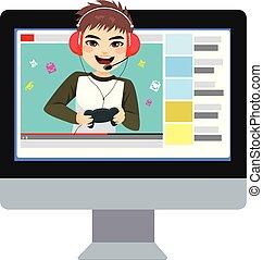 jeux visuels, adolescent, blogger