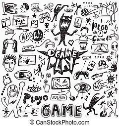 jeux visuels, doodles
