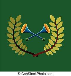 jeux, vuvuzela, emblème, olympique