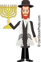 Jew - orthodox jew,hassid,rabbi,with Payot and Kippah