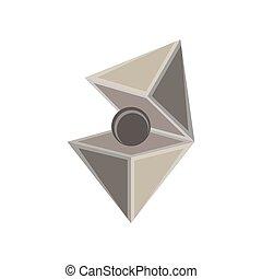 Jewel cut vector diamond set isolated gem icon design element illustration