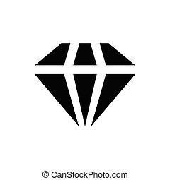 jewel glyph flat icon