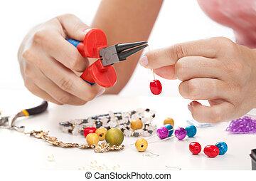 jewelery, 女, 手が作られる