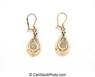 jewelery, 026, goud, earing, vrijstaand