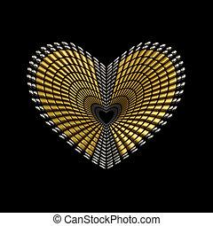 jewelery, forma coração, ornamento, desenho