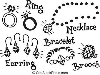 jewelery, gekritzel
