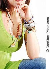 jewelery, girl, mode