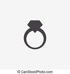 jewelery, icono, anillo