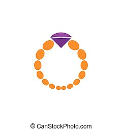 Jewelery logo vector ilustration design