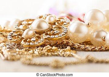 jewelery, or, brillant, argent